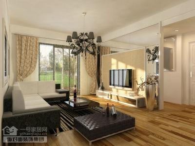 86平的现代简约两室两厅设计图