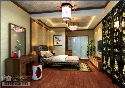 现代中式的160平四室两厅装修图