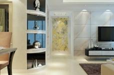128平现代简约三居室装修图图_3