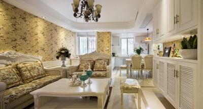 【长江紫都】案例参考 80平米两居室田园风格装修