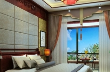 现代中式的别墅装修设计图图_5