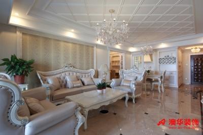 8.2万装修华润橡树湾126平米甜蜜三居室