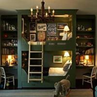 深爱的美式~2.3 更新:房门柜门墙纸部分灯具~美美哒