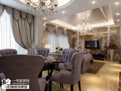 银湖翡翠-134平-奢华欧式-三室两厅