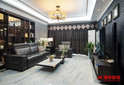 6.5万装修锦绣江南114平米创意婚房
