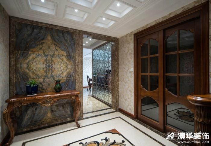 40万搞定复地东湖国际170平米全房美式装修图_7