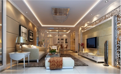 【长江紫都】案例参考 93平米两居室简欧风格装修