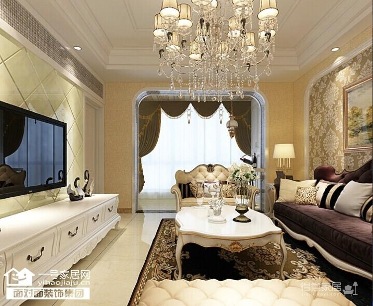 龙阳1号-90平-奢华欧式-两室两厅图_1