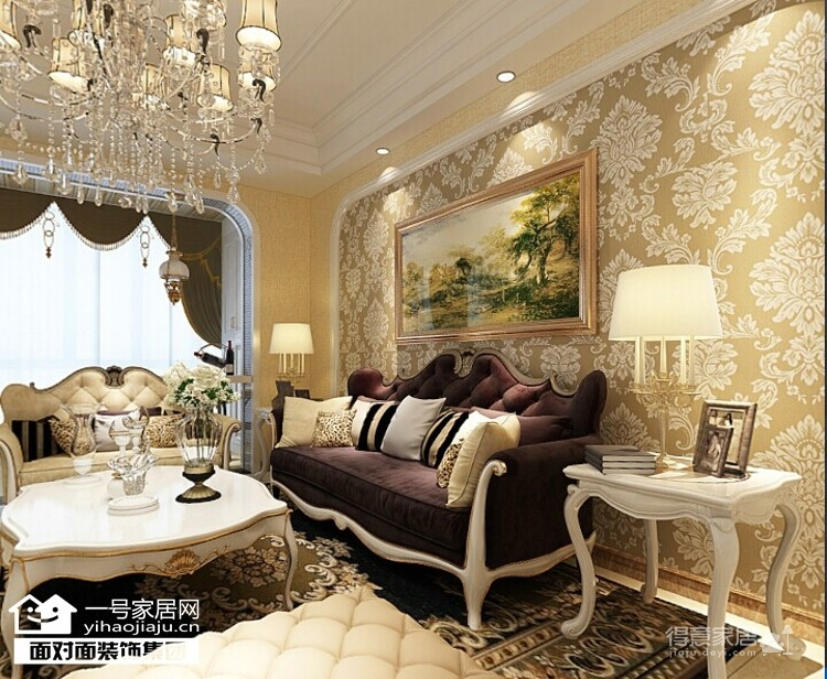 龙阳1号-90平-奢华欧式-两室两厅图_4