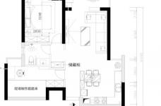 金地西岸故事-80平-现代简约-两室两厅图_2