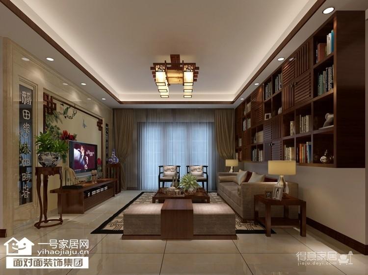 珞珈雅苑--130平-简约中式-三室两厅图_1