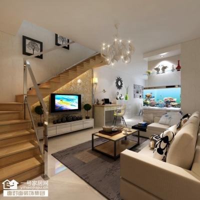圣诚阳光丽景-96平-loft简欧风格-三室两厅