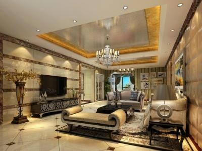 新古典风格150平四室两厅设计图