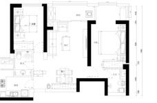 绿地国际金融城-90平-现代简约-两室两厅图_6