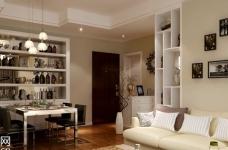 绿地国际金融城-90平-现代简约-两室两厅图_1