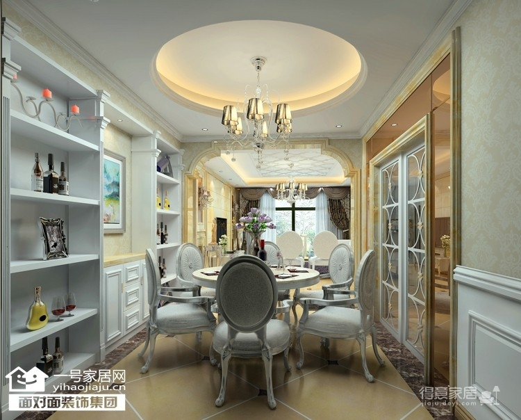 菩堤苑-165平-简约欧式-四室两厅图_3
