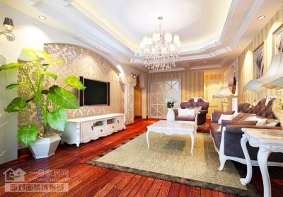 136平现代欧式三室两厅设计图