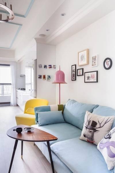组-粉红色暖暖的一居室
