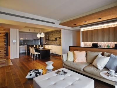 组-木质混搭个性三居室