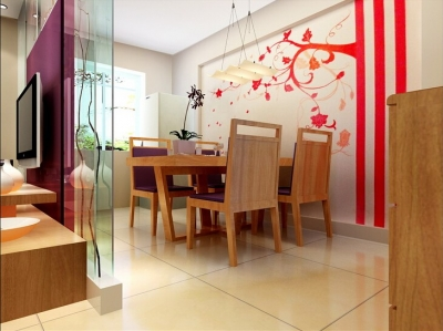 长江紫都93平米两居室现代简约风/时尚高雅的生活格调