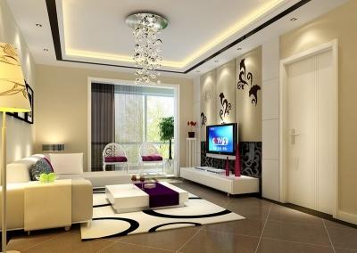 卧龙丽景湾97平米简约风格装修/诗意般的对白和典雅高贵