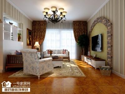 联投龙湾-125平-美式乡村-三室两厅