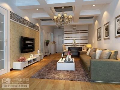 80平现代简约两居室装修图