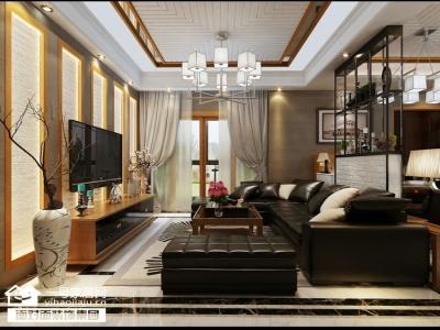 华侨城-143平-现代中式-四室两厅