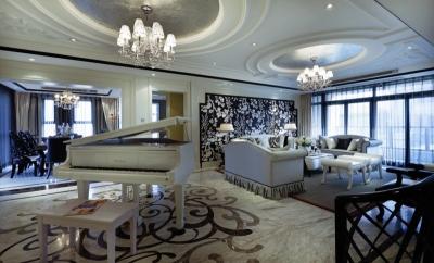 用家居复制奥黛丽•赫本的优雅,打造230平米碧海花园艺术之家