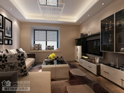 珞珈雅苑-90平-现代简约-两室两厅