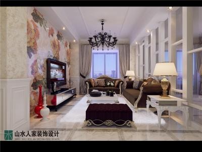 波光霞影-130平-简欧风格
