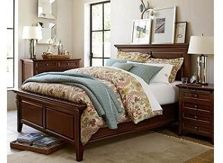 美式现代卧室三件套
