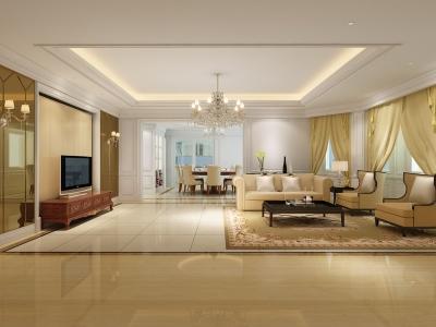 130平米三房简欧风格效果图