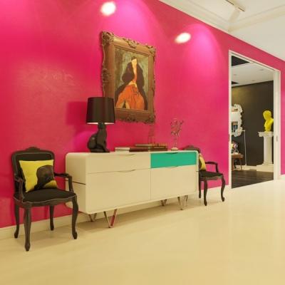 绚丽的现代波普风格公寓
