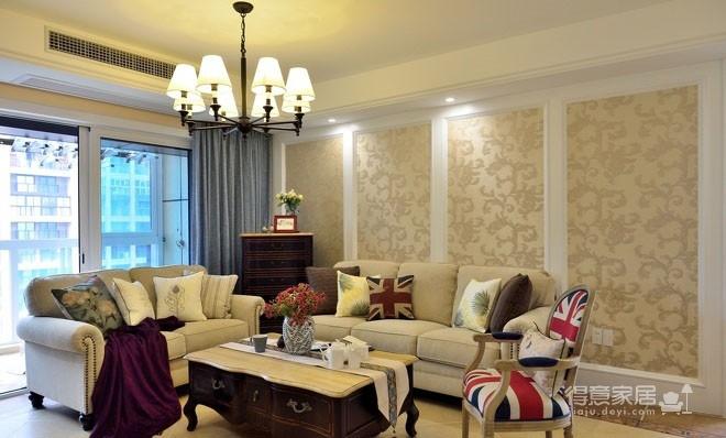 【悦达新天地】130平三居室美式风图_7 _客厅