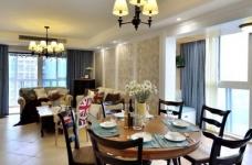 【悦达新天地】130平三居室美式风图_2 _餐厅