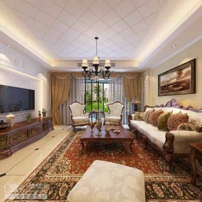 银湖翡翠-140平四房两厅美式风格