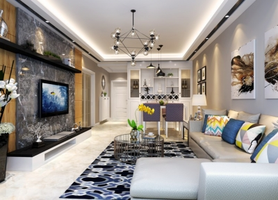 丽岛2046-101平三房两厅现代简约风格