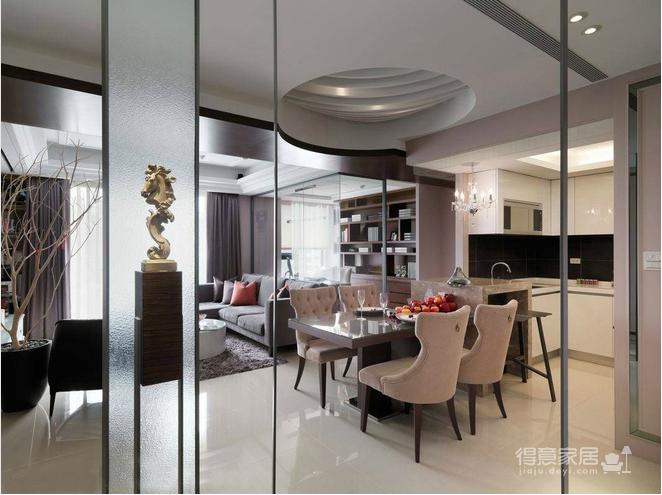 125平现代与古典欧式混搭三居室