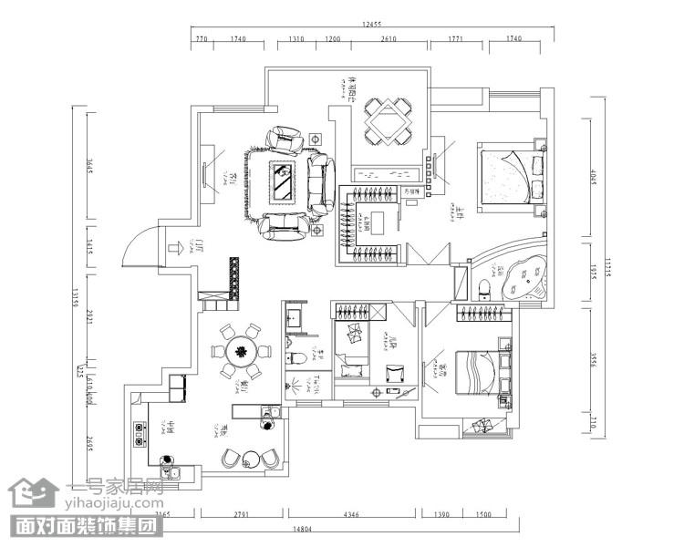 盛世家园160平四室两厅东南亚风格图_11