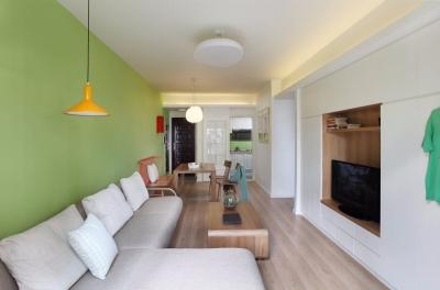 绿地国际金融城3期80平北欧宜家风三居室