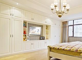 武汉欧式衣柜定制整体推拉门大衣橱实木衣柜定做卧室存物柜衣帽间