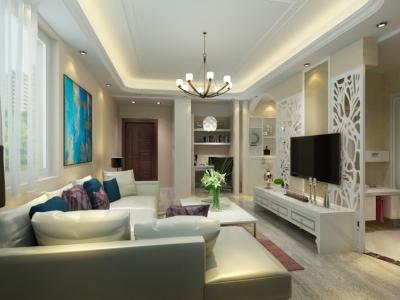 东方雅园-91平小三室两厅简约风格