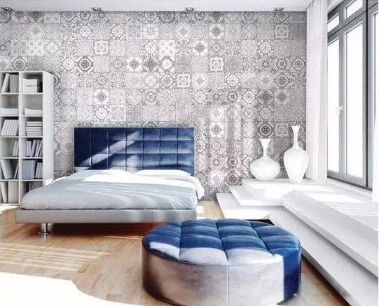 卧室也用瓷砖,装的真的太