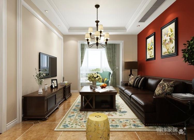 福星华府87平两居室简约美式装修效果图