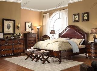 美式经典款-皮雕大床