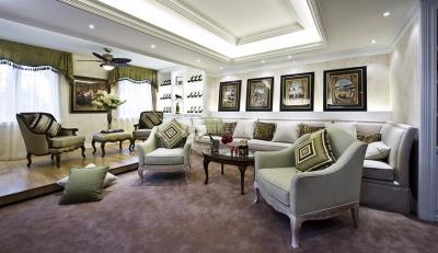 美式风格兼具古典主义的优美造型与新古典主义的特点