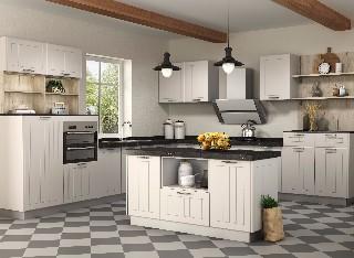 丽维家 模压吸塑厨柜门板 厨房整体橱柜定做石英石台面订制定制