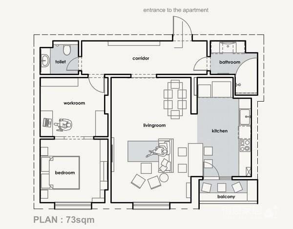 73平黄色小公寓图_7