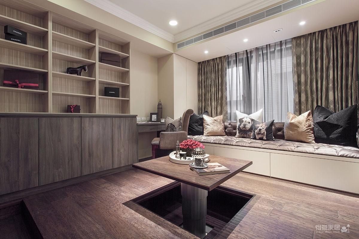 海赋江城欧式风格装修案例效果图125平